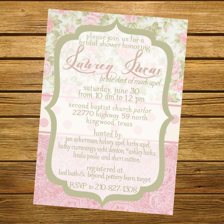 Shabby Chic Wedding Invitations