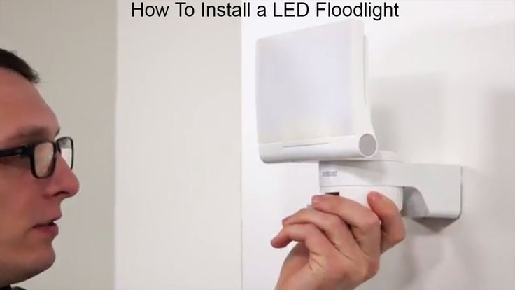 How To Install a LED Flood light From Steinel Germany