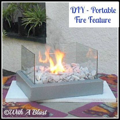 DIY & Crafts - Outdoors: The Affordable Mini Fire Feature that Fits on Your Table!