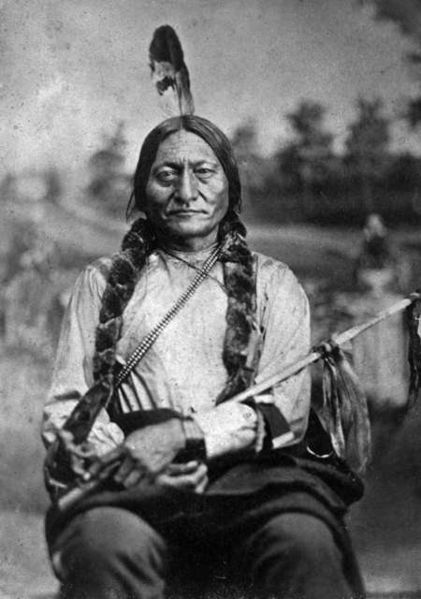 Sitting Bull (1831 – 1890) was a Hunkpapa Lakota Sioux holy man who led his people as a tribal chief during years of resistance to United States government policies.