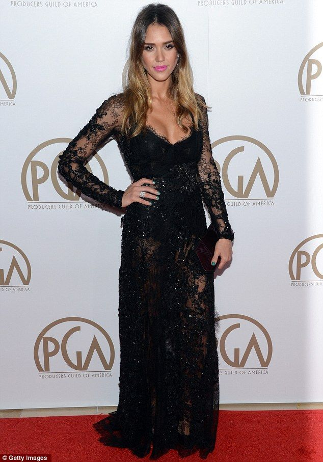 Sheer-ly stunning! Jessica Alba glitters at Producers ...