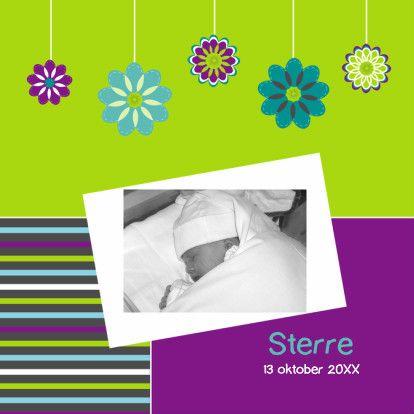 Geboortekaart jongen met foto - Geboortekaartjes - Kaartje2go