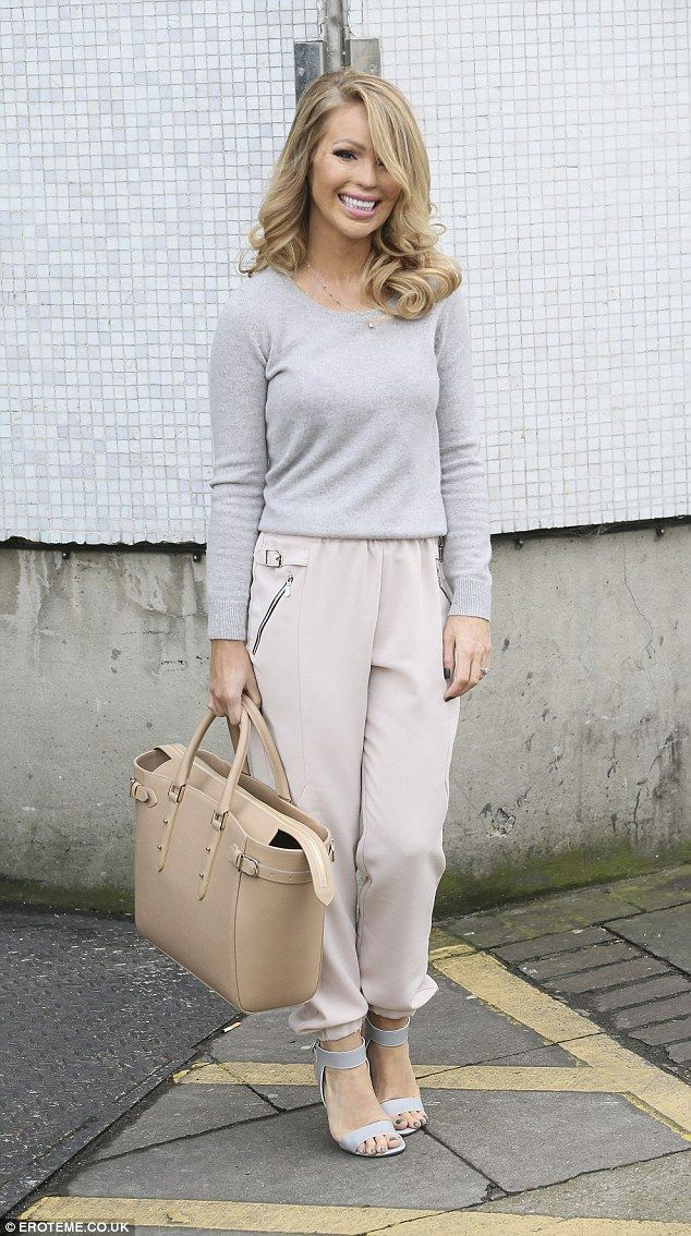 Looking grey-t! Katie Piper looked lovely in her tonal ensemble as she emerged from ITV's ...
