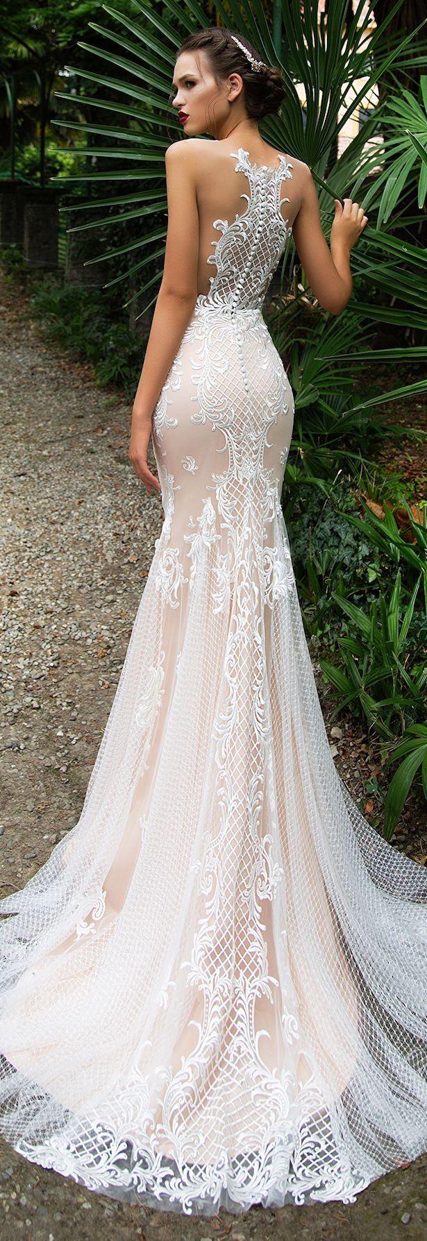 Wedding Dress by Milla Nova White Desire 2017 Bridal Collection - Salma (sólo me gusta la espalda y la tela, no el estilo sirena)