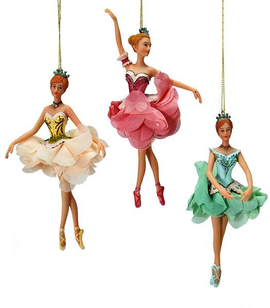 """Katherine's Collection Pirouette Christmas Collection Set Twelve Assort Approx 7"""" Pirouette Ballerina Ornaments Free Ship"""