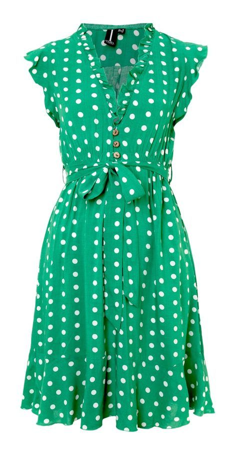 Polka dot pencil dress