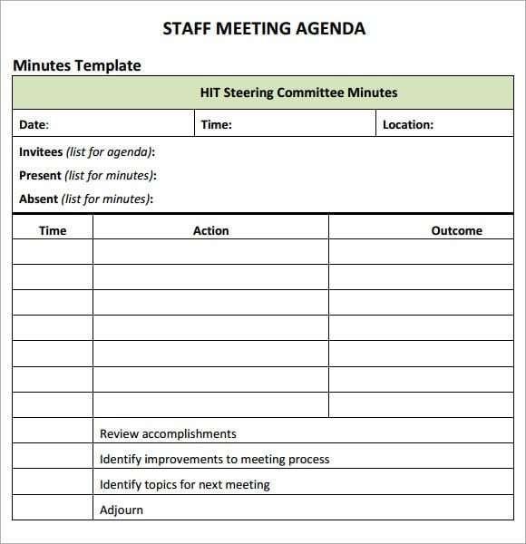 Meeting Agenda Template 547 Meeting Agenda Template Staff