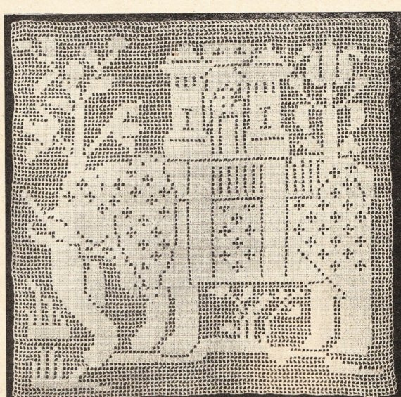Vintage early 1900s elephant square crochet pattern pdf ...