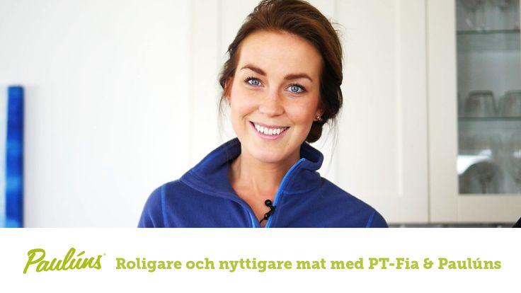 Sofia Pt-Fia Sjöström och Fredrik Paulún presenterar tankar och inspiration kring dagens huvudmål, lunch och middag. Hur fixar man det nyttigt, snabbt och enkelt och gott!