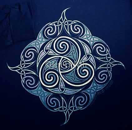 Like this celtic symbol: Triskel. Could be nice to get it on the tank somewhere