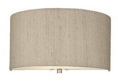 Dar REN0701 RENOIR 30cm Wall Light With Taupe Silk Shade