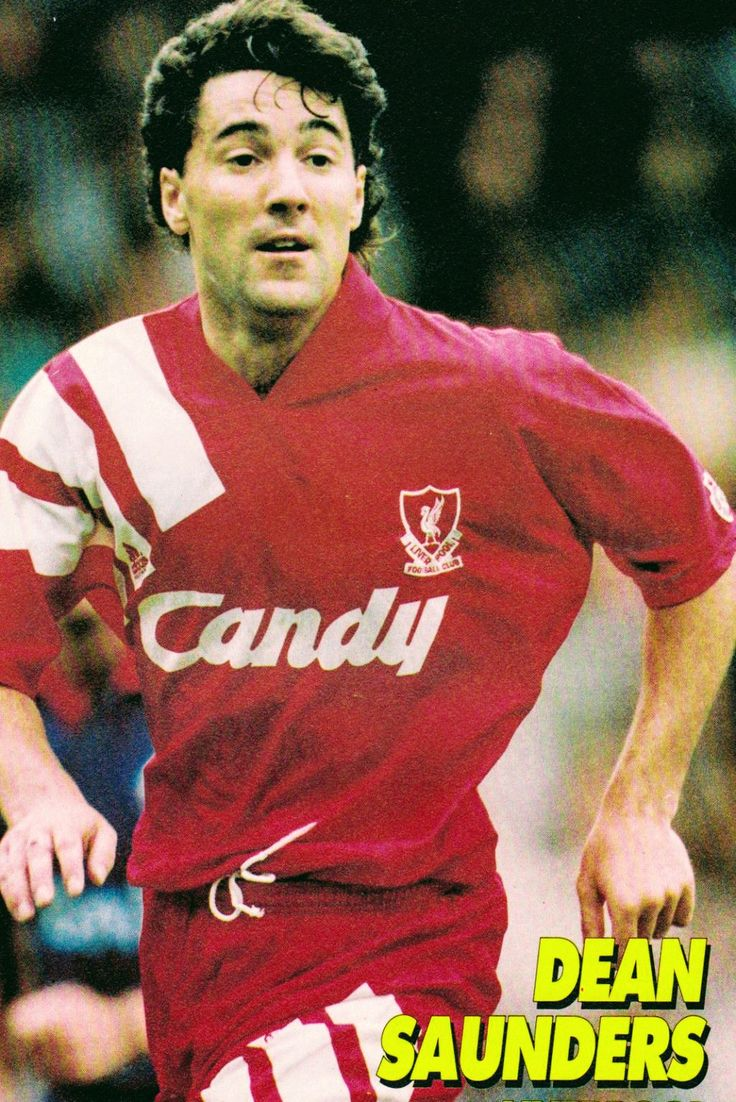 Dean Saunders of Liverpool in 1992.