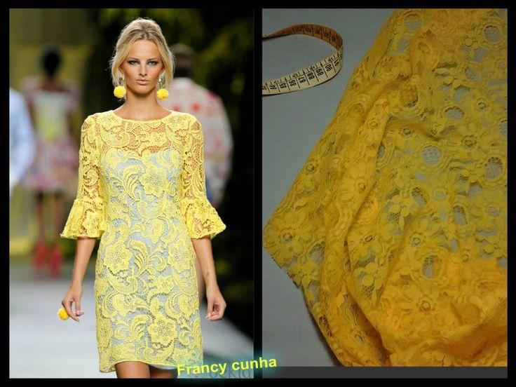 abito in pizzo giallo!