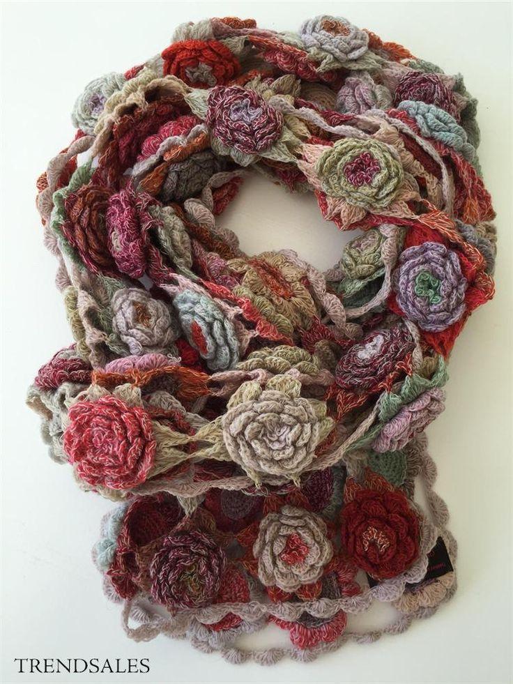 Sophie Digard Smukt tørklæde i uld - str. OZ - Rødlige