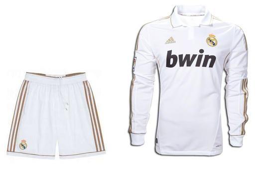 d3fcbfa5 Real Madrid C.F. Football club Adidas Home Long sleeve White 2011-12  Camiseta FÚTBOL SOCCER KIT CALCIO SHIRT JERSEY FUSSBALL CAMISA TRIKOT  MAILLOT MAGLIA ...