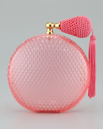 Perfume Clutch, Pink by Charlotte Olympia at Neiman Marcus.