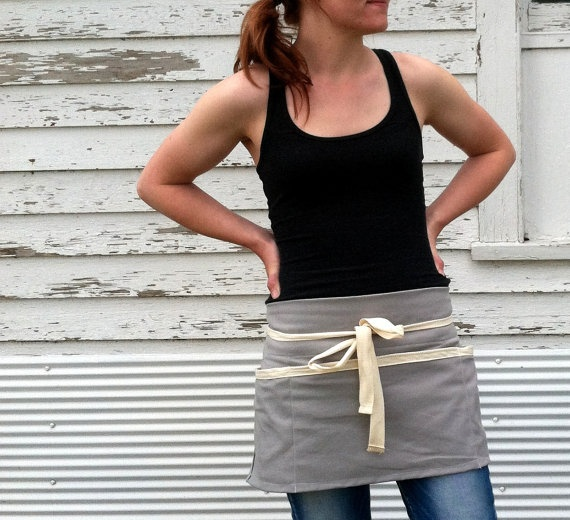 Rustic Utility Half Apron for Him or Her in the by meyertextileco, $28.50