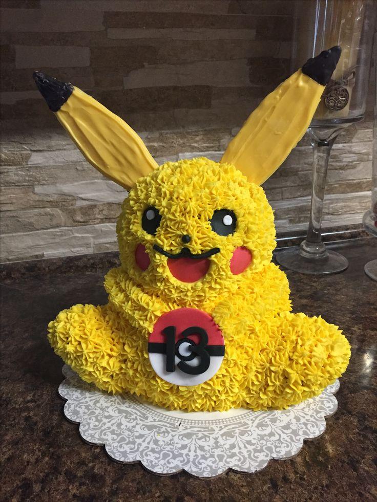 Pikachu cake made with Wilton panda pan   Pokemon cake ...