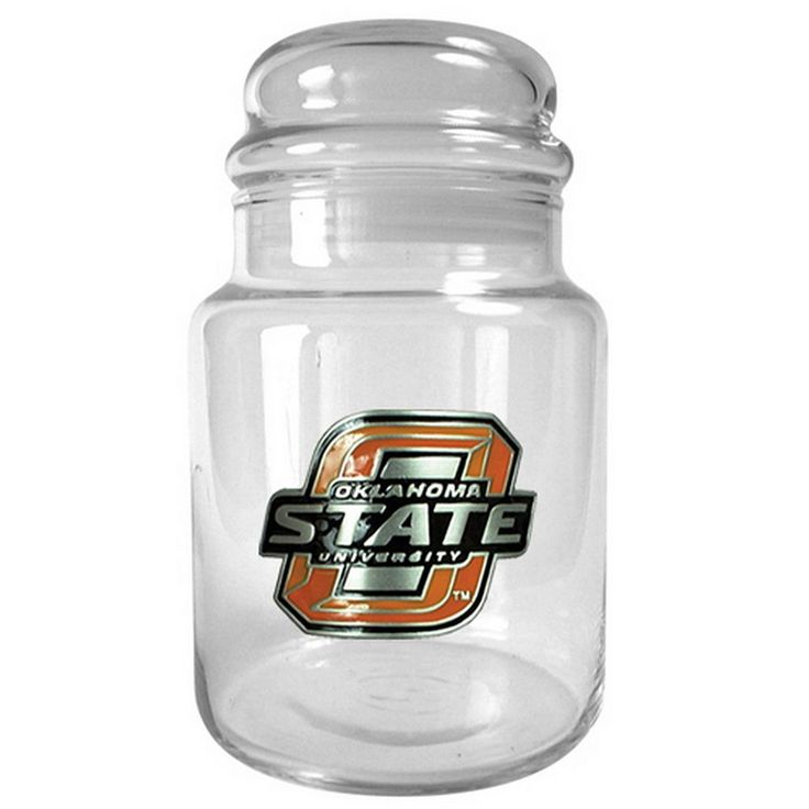 Oklahoma State Cowboys Glass Candy Jar, Multicolor