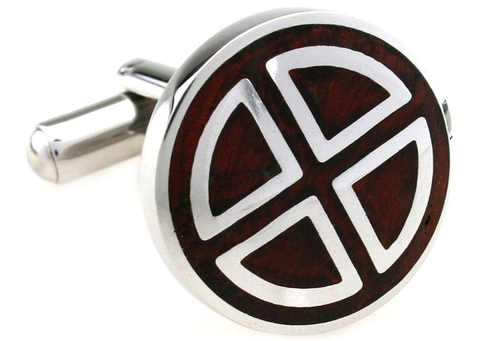 These premium cufflinks are created from stainless steel and polished rosewood. The striking circle segment design is eye-catching and effortlessly classy. Designed for the most distinguished individual, you'll want a pair of these in your cufflink collection.