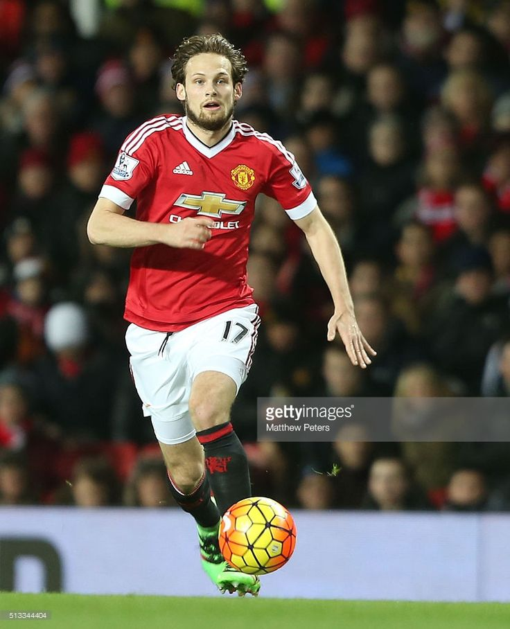 Daley Blind of Manchester United in action during the Barclays Premier League match between Manchester United and Watford at Old Trafford on March 2, 2016 in Manchester, England.