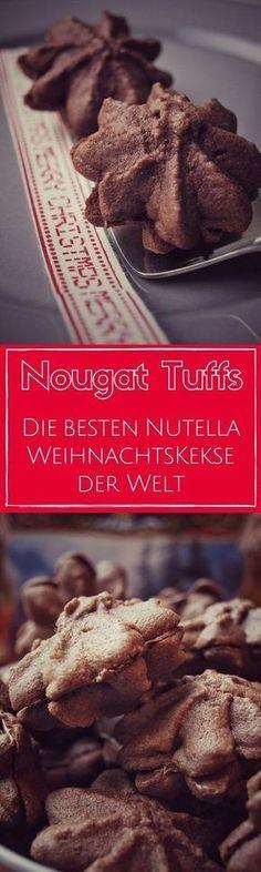 Nougat Tuffs – os melhores biscoitos de Natal Nutella do mundo (também para o Thermomix)   – Weihnachten