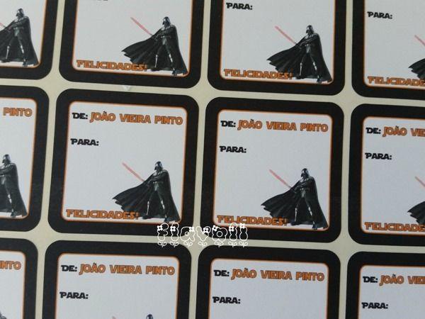 Etiqueta De/Para–Darth Vader  :: flavoli.net - Papelaria Personalizada :: Contato: (21) 98-836-0113 - Também no WhatsApp! vendas@flavoli.net
