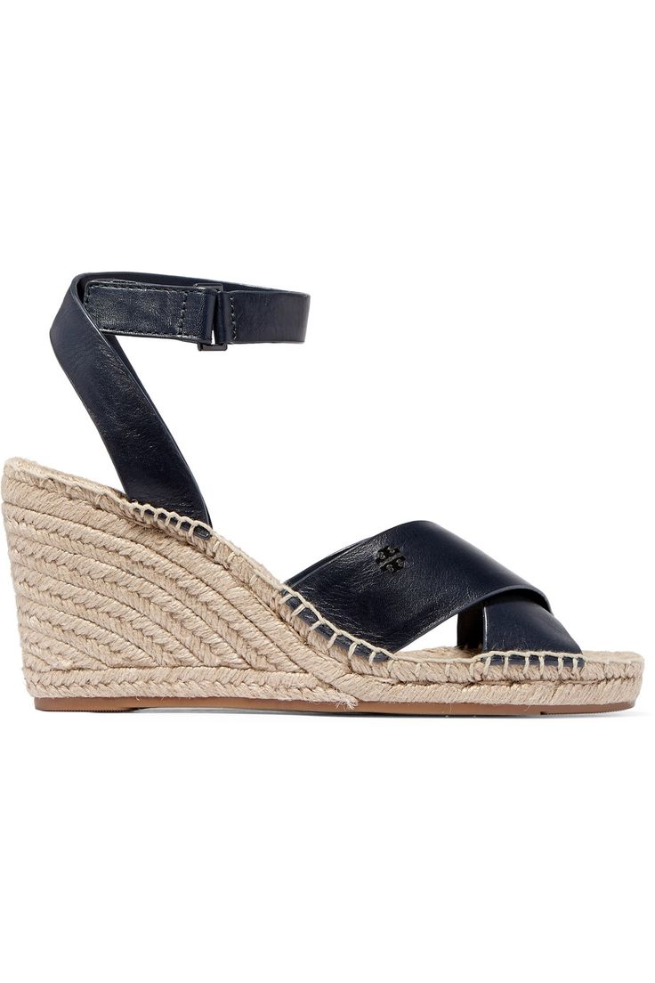 TORY BURCH BIMA LEATHER WEDGE ESPADRILLE SANDALS GBP91.88 http://www.theoutnet.com/product/871221