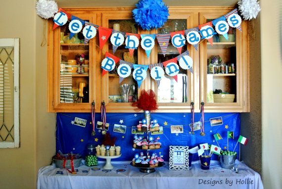 Olympic themed party banner
