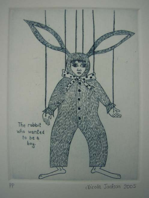 The Rabbit who wanted to be a boy  Nicola Jackson