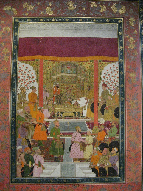 Shah Jahan Accepts Tribute From Vassal, Pergamon Museum, Berlin Mughal miniature from around 1640-47. Opaque colours and gold on paper.
