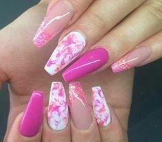 Gel Nails#, Gel Pink Nails#, Glitter Nails#, nail art 2018#, nail art designs, n…