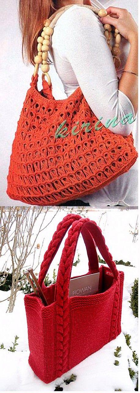 Вязаные сумки: фантазии дизайнеров