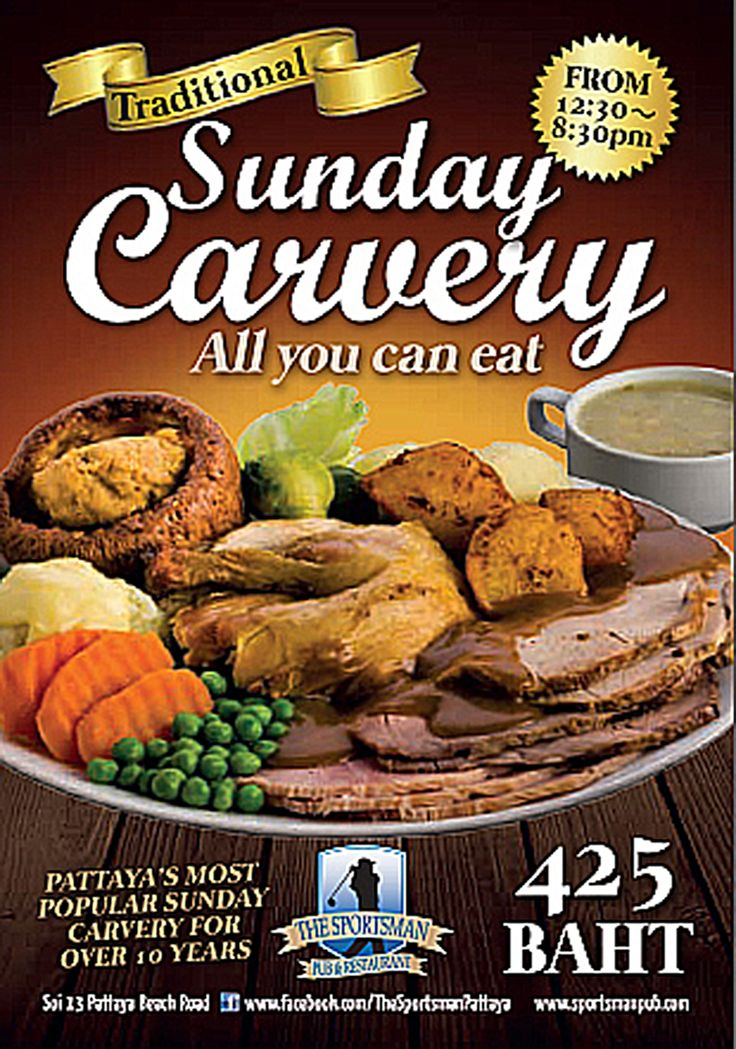 Dined the usual Sunday Carvery at the Sportsman, soi 13 Pattaya, excellent....