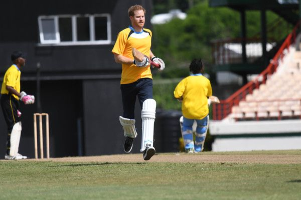 Prince Harry Photos Photos - Prince Harry takes part in a cricket match at the Darren Sammy Cricket Ground on the sixth day of an official visit on November 25, 2016 in Castries, Saint Lucia. Prince Harry's visit to The Caribbean marks the 35th Anniversary of Independence in Antigua and Barbuda and the 50th Anniversary of Independence in Barbados and Guyana. - Prince Harry Visits The Caribbean - Day 6