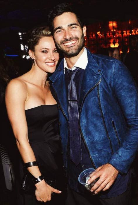Jill Wagner and Tyler Hoechlin at a private party...
