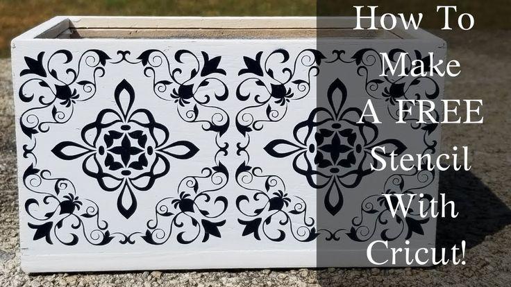 How to make a free stencil with cricut air 2 free