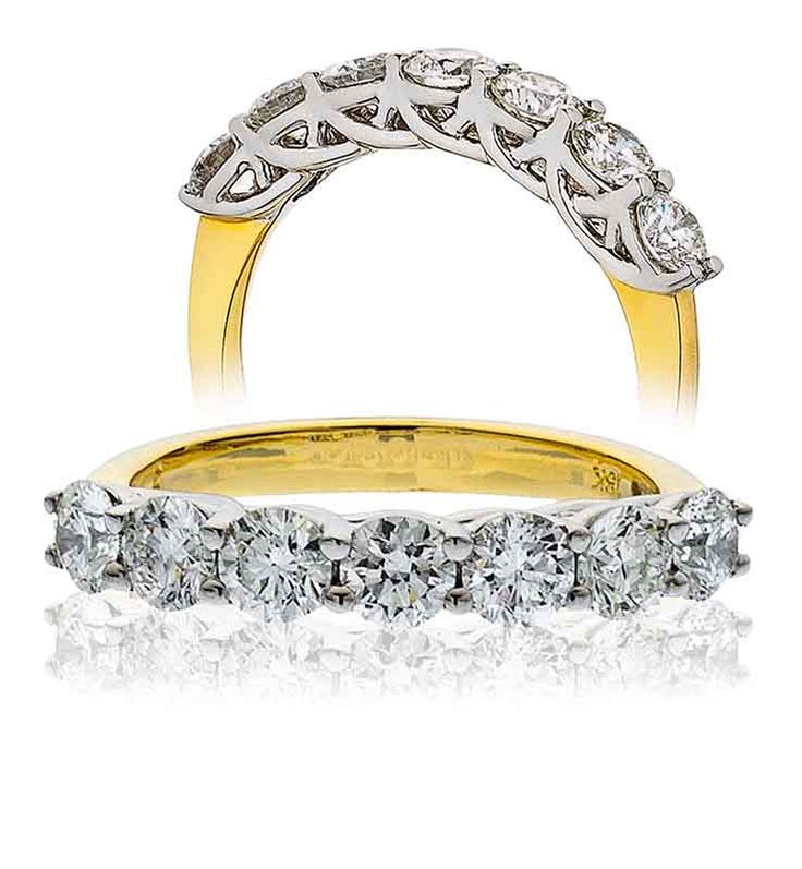 Seven Stone Half Eternity Ring 18CTTotal Diamond Weight 2.00 Carat