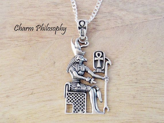 Egyptian Horus Necklace Ankh Symbol 925 Sterling Silver