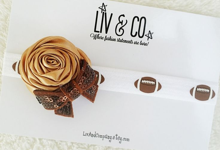 FREE SHIPPING in the USA Kick off every football Sunday in our fabulous girls football headband!
