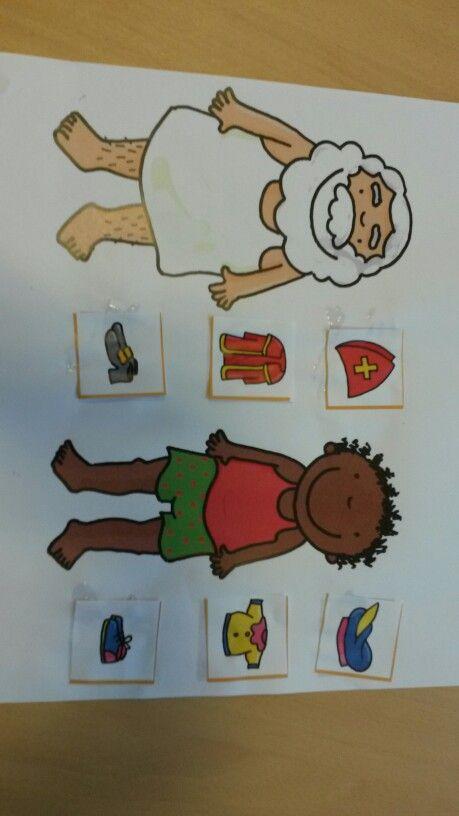 Welke kledingstukken zijn van Sint en welke van Zwarte Piet (Dopido)