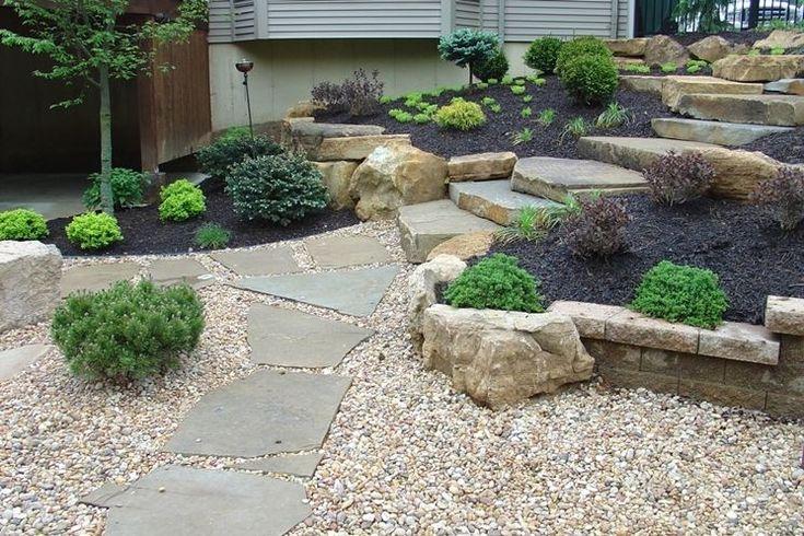 pavimento per giardino con ghiaia e pietra
