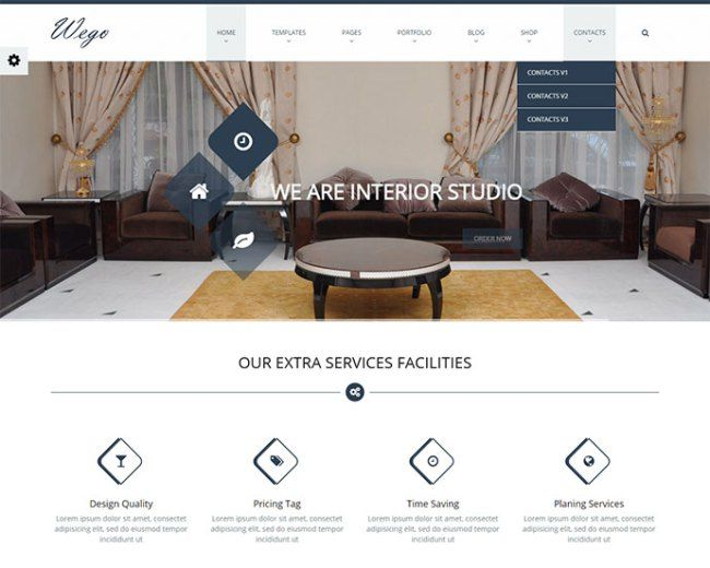 An Exquisite Collection Of Website Templates For Architects Furniture Companies And Interior Design To Showcase Their Products Services