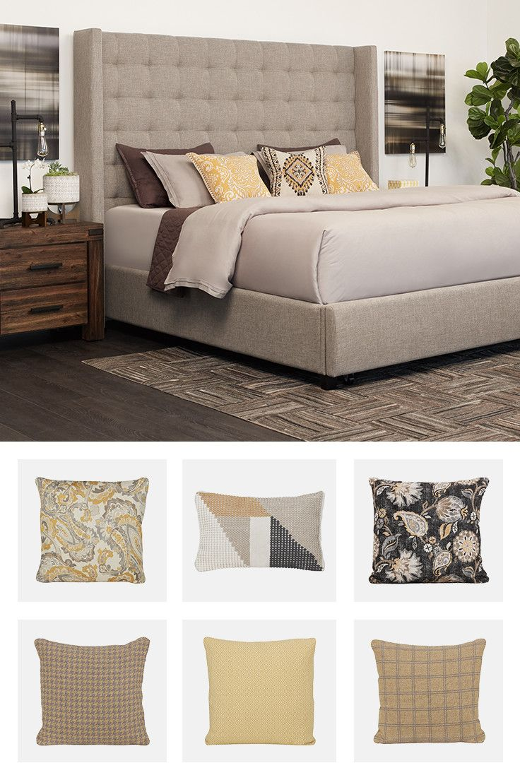 Add an accent pillow and, just like that, your bedroom becomes your favorite happy place.