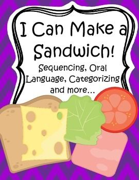This is a flexible activity set for young learners and special education, using the theme of sandwich making, and focusing on the skills and understanding of sequencing/ordering and categorizing. Encourage the children to explain what they are doing, as they do it, and to give their reasons why. 24 pages.