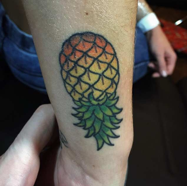 Colorful Pineapple Tattoo