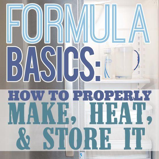 Formula Basics  How To Properly Make, Heat and Store it