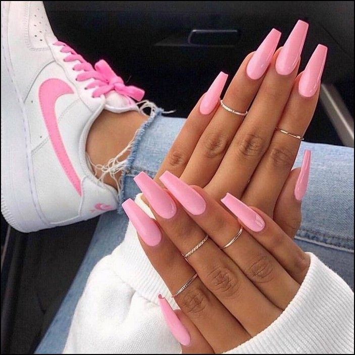 99 Best Coffin Nail Amp Gel Nail Designs For Summer 2019 Page 23 Myblogika Com Pink Acrylic