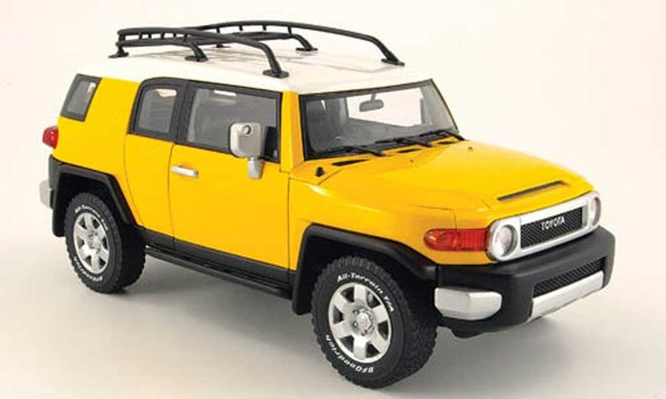 Toyota FJ Cruiser yellow Autoart diecast model car 1/18 - Buy/Sell ...