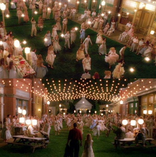 """Visual aesthetics from the hidden town of Spectre in the film """"Big Fish""""."""